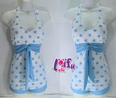 來福,C594泳衣白底星星二件式泳衣游泳衣泳裝比基尼特品不退,售價299元