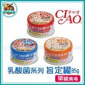 *~寵物FUN城市~* 《日本CIAO》乳酸菌系列 旨定罐85g【單罐入】貓咪罐頭,貓罐