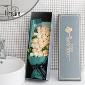 特賣仿真玫瑰香皂花禮盒母親節花束肥皂花送老師母親創意女友生日禮物伊蘿精品