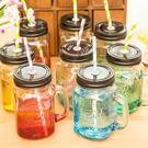 ►梅森瓶 梅森杯  漸變彩色玻璃瓶 果汁...