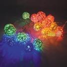 USB  七彩 LED 附藤球 燈串 (3米/20燈)