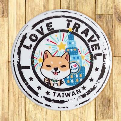 【胸章】柴犬101郵戳 # 宣傳、裝飾、團體企業 多用途胸章 5.8cm x 5.8cm