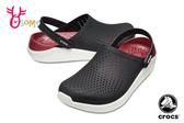 Crocs卡駱馳 洞洞鞋 成人男女款 LiteRide 園丁鞋 防水布希鞋 A1705#紅藍◆OSOME奧森鞋業