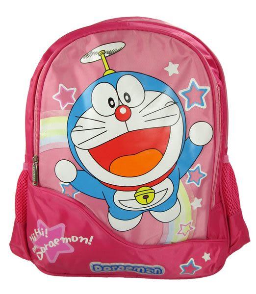 【卡漫城】 Doraemon 後背包 竹蜻蜓款 粉 ㊣版 護脊排汗 小叮噹 哆啦A夢 大於A4 大 書包 38cm 高