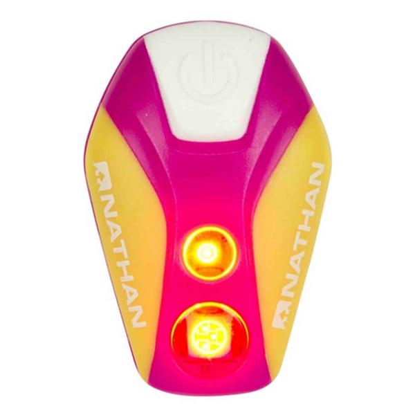 NATHAN 脈衝星 LED 防水炫光夾 Pulsar Strobe 桃紅|慢跑|路跑|夜跑 三鐵 越野 NA5077NFF