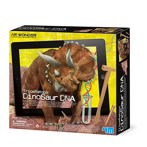 《4M挖掘考古》基因解密-三角龍實境秀 Dinosaur DNA Triceratops ╭★ JOYBUS玩具百貨
