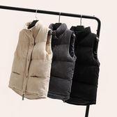 短款羽絨棉馬甲女秋冬季新款韓版寬鬆燈芯絨面包服馬夾外套裝  東川崎町