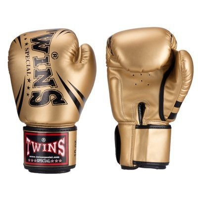 『VENUM旗艦館』14oz TWINS 泰國超纖維皮革拳套 輕量化 入門拳套 泰拳手套 BGVS-DM31-金色