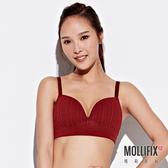 Mollifix 瑪莉菲絲 A++極簡可調肩帶美胸BRA (酒紅)