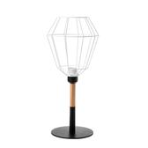 (組)特力屋萊特黑鐵檯燈鐵線白燈罩