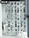 浴簾 防水加厚防霉浴室簾復古黑白 衛生間淋浴簾 紐約建筑浴簾YXS 優家小鋪