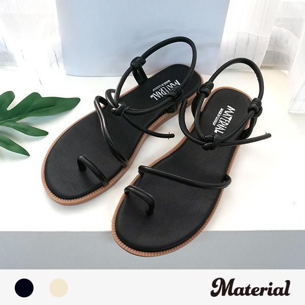 涼鞋 夾腳斜繞平結涼鞋 MA女鞋 T1023