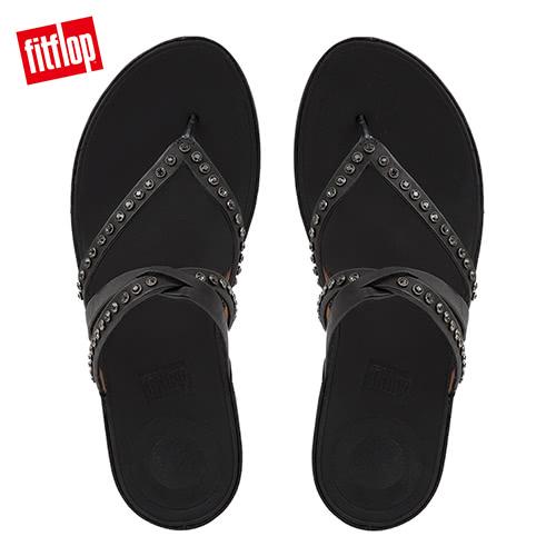 新降單一價!【FitFlop】L水鑽點綴裝飾涼鞋-女(黑色)
