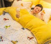 A純棉B珊瑚絨四件套全棉加厚冬季法蘭絨法萊絨被套床單1.8m米床上 igo夢藝家