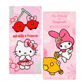 三麗鷗系列童巾毛巾-凱蒂貓/美樂蒂 擦臉巾 洗澡毛巾