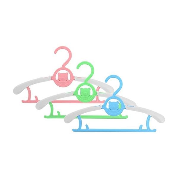 多功能加厚可伸縮款寶寶衣架(5入) 顏色隨機出貨【小三美日】