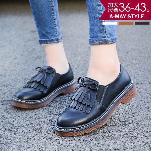 紳士鞋-英倫風復古流蘇紳士鞋(36-43加大碼)