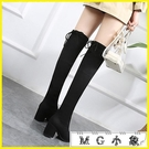 MG 膝上靴-高跟長靴過膝靴粗跟長筒靴...