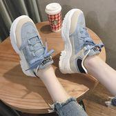 高筒鞋 皇冠外貿真皮女鞋年夏季新款牛皮潮流舒適圓頭休閒輕便 彩希精品鞋包