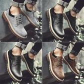 男鞋秋季大頭鞋英倫工裝鞋男士休閒皮鞋馬丁鞋子韓版潮鞋冬季保暖 雲雨尚品