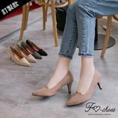 跟鞋.鞋舌剪裁尖頭高跟鞋(黑、灰)-FM時尚美鞋-訂製款.firefly