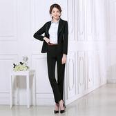 美熙夏季黑色高腰修身職業直筒工裝工作服正裝西褲女長褲子