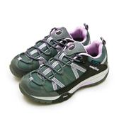 LIKA夢 GOODYEAR  固特異專業多功能郊山防水戶外健行鞋 TRAVELER II 旅行者系列 灰黑紫 82538 女