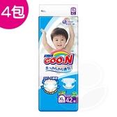 【4入】GOO.N日本頂級透氣舒柔紙尿褲XL 42片 (黏貼型)【產地日本】【佳兒園婦幼館】