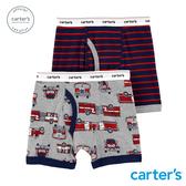 【美國 carter s】條紋消防車2件組內褲(四角)-台灣總代理