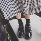 復古學院風女單鞋夏秋新款圓頭鬆糕厚底娃娃鞋日系包頭小皮鞋 潮流前線