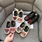 女童皮鞋2020春秋新款單鞋方頭兒童公主鞋小女孩黑色軟底寶寶鞋子 滿天星