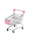 兒童迷你超市購物車女孩小號金屬仿真手推車小擺件過家家玩具車鐵  ATF  極有家