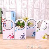 女大學生usb無葉風扇 迷你靜音寢室用 桌面風扇便攜式電池小風扇   米娜小鋪