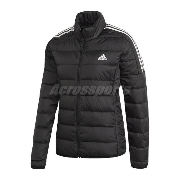 adidas 外套 Essentials Down Jacket 黑 白 女款 保暖 羽絨外套 運動休閒【ACS】 GH4593