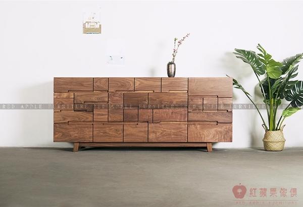 [紅蘋果傢俱]MJ008 北歐 日式 實木傢俱 抽屜櫃 餐邊櫃 客廳 臥室 儲物 收納櫃