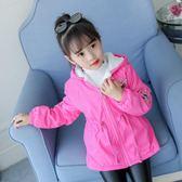 女童秋冬外套加絨加厚新款兒童洋氣寶寶保暖上衣女孩秋裝外衣