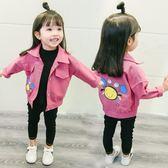 【新年鉅惠】牛仔外套春秋裝風衣女童秋卡通開襟童裝上衣