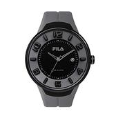 【FILA 斐樂】經典簡約運動腕錶-低調灰/38-030-005/台灣總代理公司貨享兩年保固