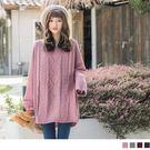《FA1532》純色羅紋編織設計寬鬆針織...