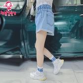女童牛仔短褲2019新款兒童薄款褲子夏韓版時尚棉質卷邊熱褲童裝潮