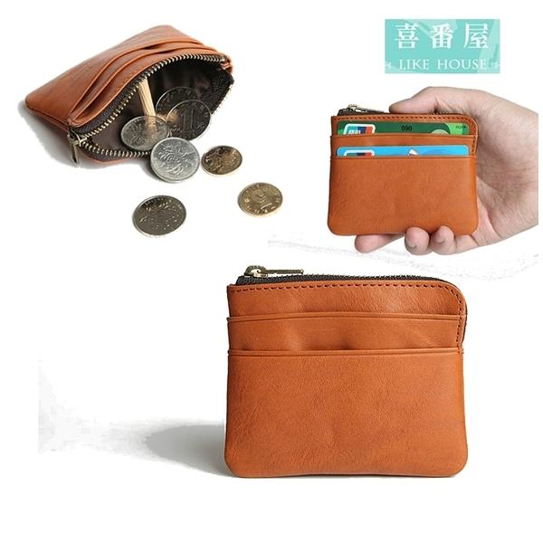 【喜番屋】真皮頭層牛皮男女通用卡片包卡片夾皮夾皮包零錢包小錢包男夾女夾【LH474】