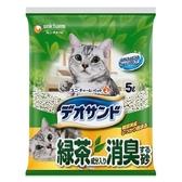 日本Unicharm嬌聯 消臭大師礦砂貓砂-綠茶香5L