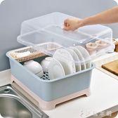 大號帶蓋防塵瀝水碗架加厚塑料碗櫃廚房igo  伊鞋本鋪