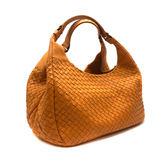 【台中米蘭站】展示品 BOTTEGA VENETA 編織羊皮Campana 肩背包-小(亮橘)