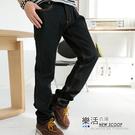 韓風原色彈力小直筒牛仔褲(黑色) 樂活衣庫【6714】