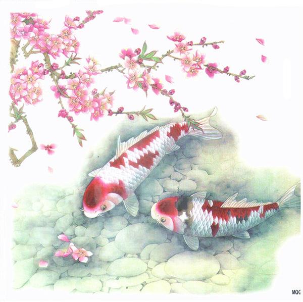 薇嘉雅 鯉魚 大圖經典圖案紋身貼紙 MQG06