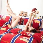 搖粒絨 / 雙人【俏皮泰迪紅】床包兩用毯組  頂級搖粒絨  戀家小舖台灣製AAW215