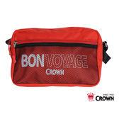 CROWN 郵差包(紅色)【愛買】