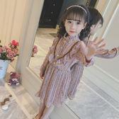 童裝女童春裝2018新款兒童長袖連身裙