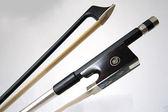 小叮噹的店 -V-V50  純黑 碳纖維小提琴弓 尺寸4/4 弓桿直弓毛厚實